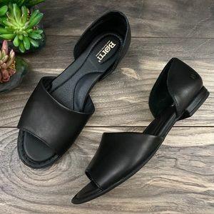 NEW Born Escif Leather Open Toe d'Orsay Sandal